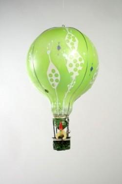 Reciclaje de una bombilla convencional en un globo aerostático