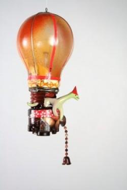 Globo Aeróstatico a partir del reciclaje de una bombilla convencional