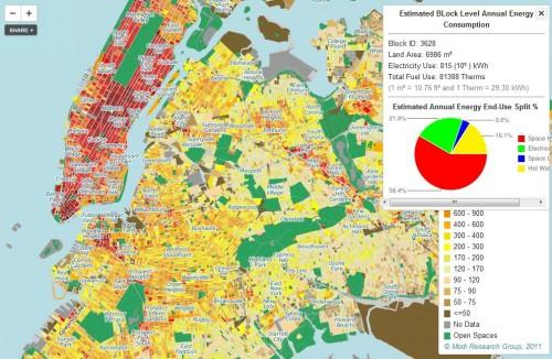 Mapa interactivo consumo energético Nueva York
