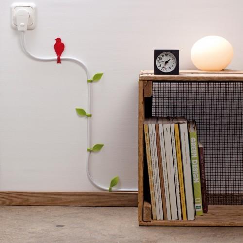 Decora tus cables con hojas y pájaros