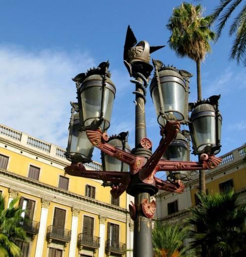 Fanals, farolas diseñadas por Antoni Gaudí