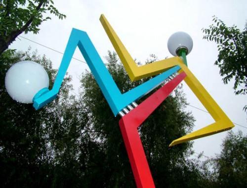 Farolas diseñadas para los Juegos Olímpicos de China