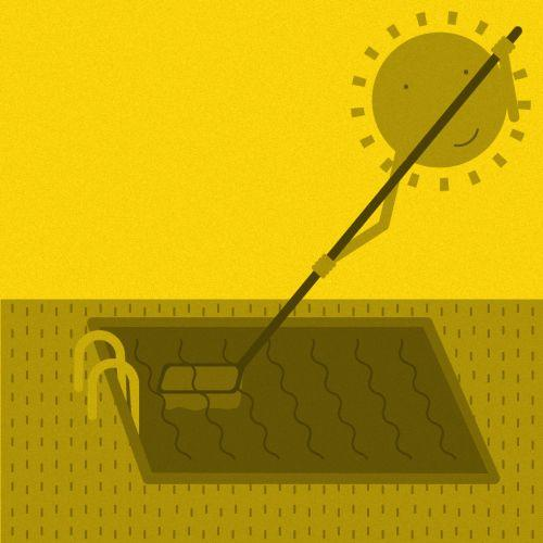 Pon a punto tu piscina limpiándola con luz solar