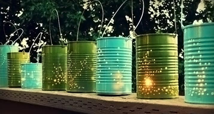 DIY: Farolillos con latas recicladas