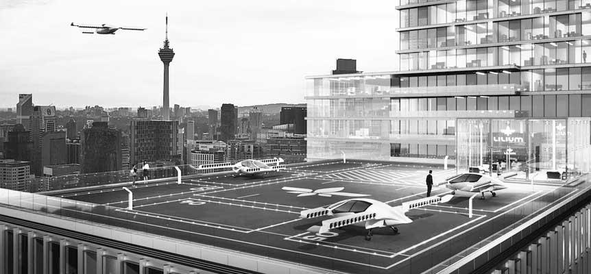 Taxis voladores y otros vehículos eléctricos aéreos